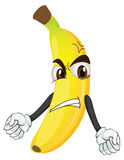 Angry banana smiley Royalty Free Stock Image