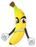 Angry banana smiley Royalty Free Stock Image