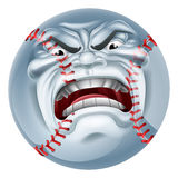 Angry Baseball Ball Sports Cartoon Mascot Royalty Free Stock Image