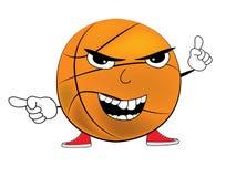 Angry Basketball ball cartoon Royalty Free Stock Image