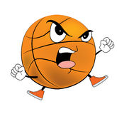 Angry Basketball ball cartoon Royalty Free Stock Photography