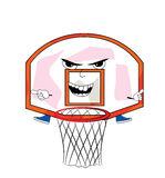 Angry basketball hoop cartoon Stock Photos