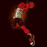 Angry basketball player stock illustration