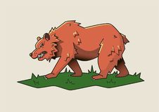 Angry bear, dangerous beast. Vector illustration. Angry bear, dangerous beast. Vector isolated illustration Royalty Free Stock Image