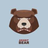 Angry bear head mascot. Bear head logo for Hockey Club Stock Images