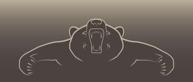 Angry bear illustration logo. Angry brown bear illustration logo Royalty Free Stock Photos