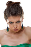 Angry beautiful woman Royalty Free Stock Photos