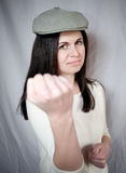 Angry beautiful woman Stock Photos