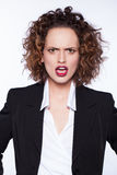 Angry beautiful young woman Stock Images