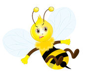 Angry bee Royalty Free Stock Photo