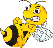 Angry bee cartoon. Illustration of angry bee cartoon Royalty Free Stock Images