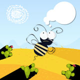 Angry bee in the desert Royalty Free Stock Photo