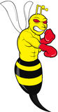 Angry Bee. Sting like a bee illustration Stock Photography