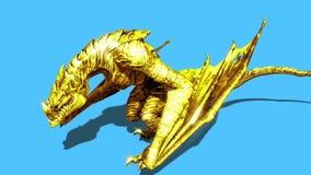 angry gold dragon