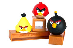 Angry birds. Game - main characters of the  game isolated on white Royalty Free Stock Photography