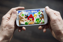 Angry birds application game Stock Image