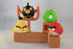 Angry birds Stock Photo