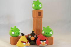 Angry birds Stock Image