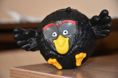 Angry birds black toy Royalty Free Stock Photo