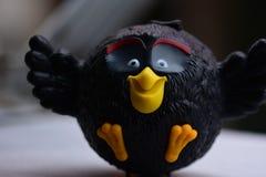 Angry Birds czerni collectible zabawka fotografia royalty free
