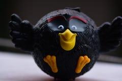 Angry Birds czerni collectible zabawka obrazy stock