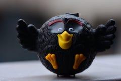 Angry Birds czerni collectible zabawka obraz stock