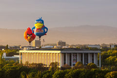 Angry Birds and Dodo Hot Air Balloons in Canberra Royalty Free Stock Photos
