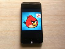 Angry Birds gra zdjęcia royalty free