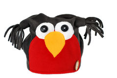 Angry birds handmade hat. Angry birds handmade fleece hat Royalty Free Stock Image