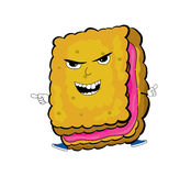 Angry biscuit cartoon Royalty Free Stock Photos