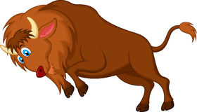 Angry bison cartoon. Illustration of Angry bison cartoon character Royalty Free Stock Photo
