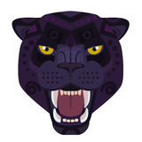 Angry black panther head Logo. Wild cat vector decorative Emblem. Angry black panther head Logo. Wild cat vector decorative Emblem Stock Photography