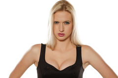 Angry blonde Royalty Free Stock Photos