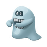 Angry blue ghost with teeths Stock Image