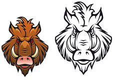 Angry boar mascot Stock Photos