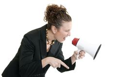 Angry boss Royalty Free Stock Photography