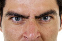 Angry Boss. Stock image of closeup of angry male face Stock Photography