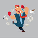 Angry boss - business man - employee - Vector Royalty Free Stock Images