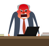 Angry boss with face getting red. Royalty Free Stock Photo