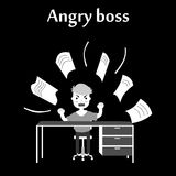 The angry boss Royalty Free Stock Photos