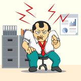 Angry boss man Stock Images