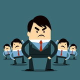 Angry boss. In the office Stock Images