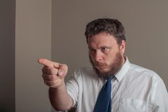 boss pointing stock photography