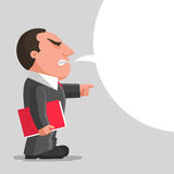 Angry boss with red document folder Royalty Free Stock Images