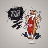 Angry Boss Screaming Deadline. Angry Boss Screaming Deadline for Humor Design or T-Shirt Print. Clipping paths included in additional jpg format Royalty Free Stock Images