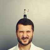 Angry boss screaming at worker Royalty Free Stock Image