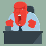 Angry boss shouting Stock Photos