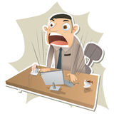 Angry boss stand up and shout Stock Photo
