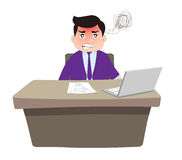 Angry boss. Successful Businessman angry boss at office Stock Image