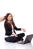 Angry boss yelling Royalty Free Stock Photography